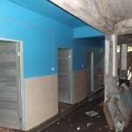 Sanitaires des filles en rénovation